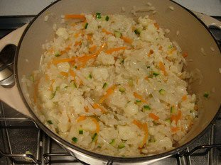 Creamy risotto with vegetables  : Photo of step #20