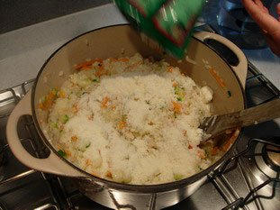 Creamy risotto with vegetables  : Photo of step #22
