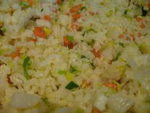 Tha� rice with small vegetables