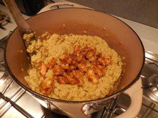 Risotto de crevettes au curry : Photo de l'étape 26