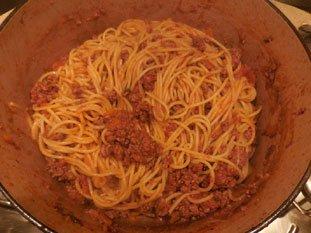 Spaghetti Bolognaise : Photo de l'étape 10