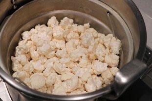 Salade tiède de chou-fleur aux 2 fromages : Photo de l'étape 3