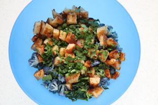 Warm autumn salad : Photo of step #6