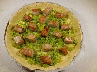 Tarte poireaux-thon frais : Photo de l'étape 8