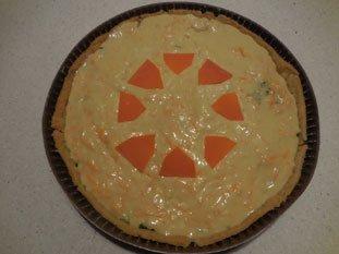 Tarte poireaux-mimolette : Photo de l'étape 7