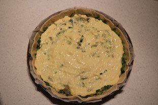 Fine tarte poireaux-artichauts à la piémontaise : Photo de l'étape 10