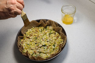 Breton leek and mushroom  tart : Photo of step #11