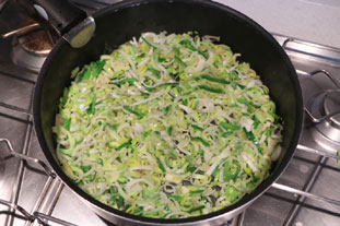 Breton leek and mushroom  tart : Photo of step #6