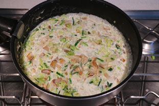Breton leek and mushroom  tart : Photo of step #7