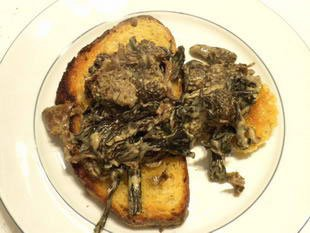 Mushrooms on toast, French style : Photo of step #8