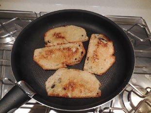 Tartine aux épinards et béchamel : Photo de l'étape 2
