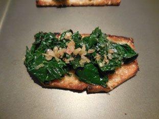 Tartine aux épinards et béchamel : Photo de l'étape 5