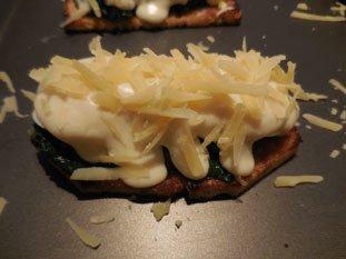 Tartine aux épinards et béchamel : Photo de l'étape 7
