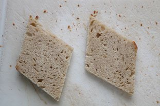 Tartines aux blancs de poireaux et oeuf mollet : Photo de l'étape 2