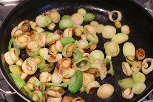Tartines aux blancs de poireaux et oeuf mollet : Photo de l'étape 5