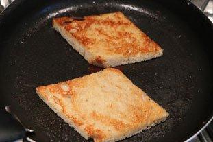 Tartines aux blancs de poireaux et oeuf mollet : Photo de l'étape 6