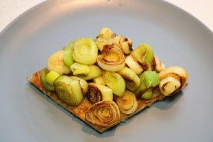 Tartines aux blancs de poireaux et oeuf mollet : Photo de l'étape 7