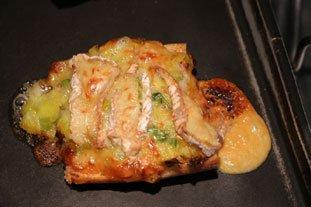Tartines grillées aux poireaux et Camembert : Photo de l'étape 6