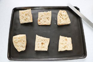 Tartines grillées aux poireaux et Camembert : Photo de l'étape 4