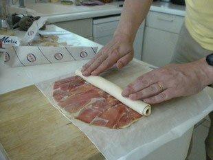 """Feuilletés au jambon """"En escargot"""" : Photo de l'étape 4"""