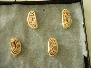 """Feuilletés au jambon """"En escargot"""" : Photo de l'étape 8"""