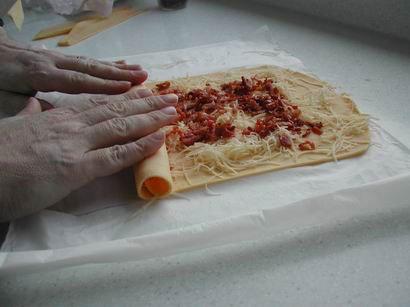 Petits roulés aux lardons et fromage : Photo de l'étape 6