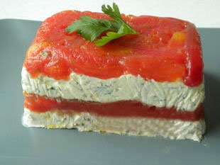 Tomato and cream cheese terrine : Photo of step #12