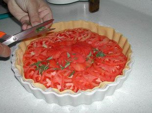 Tarte aux tomates : Photo de l'étape 7