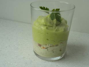 Mousse d'avocat au crabe en verrine : Photo de l'étape 10