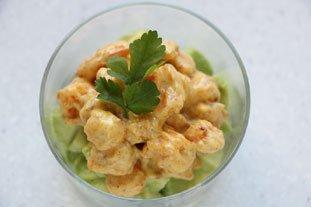 Avocat aux crevettes sautées : Photo de l'étape 7