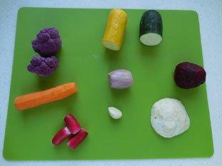 Vegetable tartare : Photo of step #1