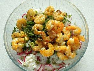 Salade mi-croquante aux crevettes : Photo de l'étape 10