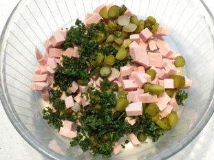 Salade de cervelas : Photo de l'étape 5