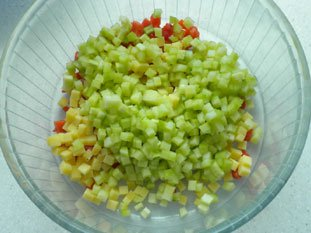Salade cubique : Photo de l'étape 6
