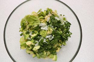 Salade verte d'avocat : Photo de l'étape 5