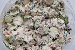 Salade de courgettes croquantes et champignons : Photo de l'étape 6