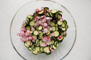 Salade de courgettes croquantes et champignons : Photo de l'étape 3