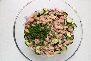 Salade de courgettes croquantes et champignons : Photo de l'étape 5