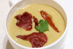 Soupe rustique aux poireaux et choux de Bruxelles : Photo de l'étape 26