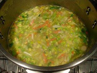 Soupe de légumes moulinée : Photo de l'étape 7