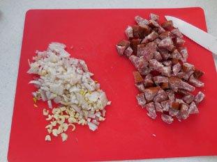 Soupe aux épinards frais : Photo de l'étape 1
