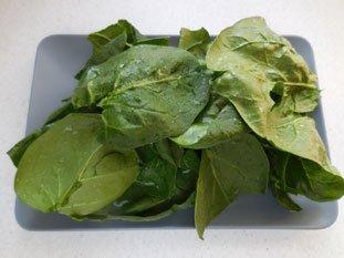 Soupe aux épinards frais : Photo de l'étape 3