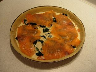 Salmon and spinach quiche : Photo of step #7