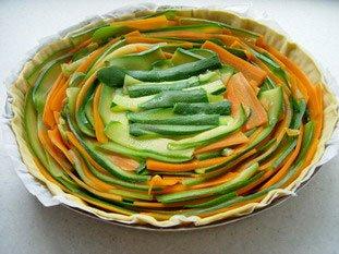 Tarte fine de légumes en rosace : Photo de l'étape 11