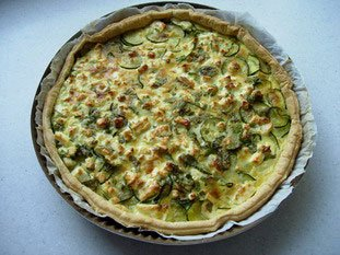 Tarte fine courgettes-menthe