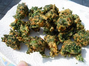 Spinach fritters : Photo of step #10