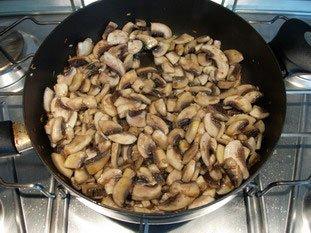 Koulibiak in pie dish : Photo of step #10