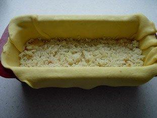 Koulibiak in pie dish : Photo of step #16