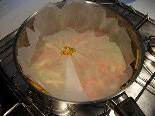 Pétales de poisson, julienne de légumes et beurre blanc : Photo de l'étape 10