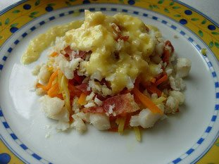 Pétales de poisson, julienne de légumes et beurre blanc : Photo de l'étape 17